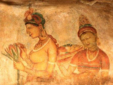 Sigiriya-Frescoes-Mirror-wall.